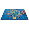 Carpets for Kids Printed Give The Planet A Hug Blue Area Rug