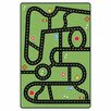 Carpets for Kids Printed Drive and Play Green Area Rug