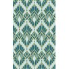 Malene b Voyages Mint Ikat Area Rug