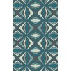 Malene b Voyages Sea Foam Geometric Area Rug