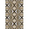 Malene b Voyages Beige/Black Geometric Area Rug