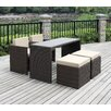 Handy Living 5 Piece Dining Seating Group with Cushion