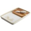BonJour Sierra Pine 3 Piece Stoneware Cheese Board and Knife Set