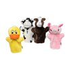Get Ready Kids Farm Puppet Set (Cow, Horse, Pig, Duck)