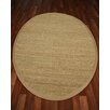 Natural Area Rugs Half Panama Tan Solid Area Rug