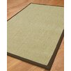 Natural Area Rugs Hibiscus Light Green Solid Area Rug
