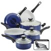 <strong>New Traditions Speckled Aluminum Nonstick 12-Piece Cookware Set</strong> by Farberware