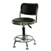 Buffalo Tools Height Adjustable Undersized Stool with Low Profile Backrest and Casters (Set of 2)