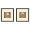 <strong>Pro Tour Memorabilia</strong> Floral Spring Ahead 2 Piece Framed Graphic Art Set