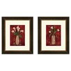 <strong>Pro Tour Memorabilia</strong> Floral Hot Callas 2 Piece Framed Painting Print Set