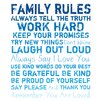 <strong>Pro Tour Memorabilia</strong> Family Rules Textual Art on Canvas