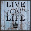 Pro Tour Memorabilia Live Your Life Framed Textual Art