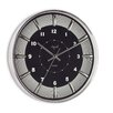 "<strong>Opal Luxury Time Products</strong> 12"" Round Stainless Steel Case Wall Clock"