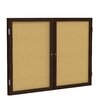 <strong>2 Door Wood Frame Enclosed Natural Cork Bulletin Board</strong> by Ghent