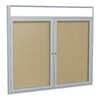 Ghent 2 Door Outdoor Aluminum Headliner Vinyl Bulletin Board
