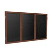 Ghent 3-Door Wood Frame Enclosed Flannel Letter board
