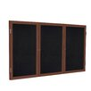 Ghent 3 Door Solid Wood Enclosed Rubber Bulletin Board