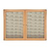 <strong>2 Door Ovation Fabric Bulletin Board - Wood Look with Chrome</strong> by Ghent