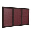 Ghent 3 Door Outdoor Aluminum Frame Enclosed Vinyl Bulletin Board