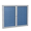 Ghent 2 Door Outdoor Aluminum Frame Enclosed Vinyl Bulletin Board