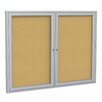 <strong>2 Door Aluminum Frame Enclosed Natural Cork Bulletin Board</strong> by Ghent
