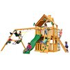 <strong>Chateau II Clubhouse with Amber Posts Cedar Swing Set</strong> by Gorilla Playsets