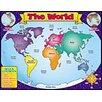 Teachers Friend World Map Friendly Chart 17x22