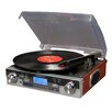 <strong>Tech Turntable with LCD Display in Mahogany</strong> by Crosley