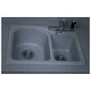 "<strong>Swanstone Classics 25"" x 18"" Space Saver Double Bowl Kitchen Sink</strong> by Swanstone"