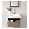 "Senza 26.75"" Fresca Potenza Modern Bathroom Vanity Set with Mirror and Pop Open Drawer"