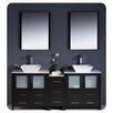 "<strong>Fresca</strong> Torino 72"" Modern Double Sink Bathroom Vanity Set with Side Cabinet and Vessel Sinks"