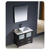 "Fresca Torino 36"" Single Modern Bathroom Vanity Set with Mirror"