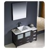 "Fresca Torino 48"" Modern Bathroom Vanity Set with Side Cabinet and Vessel Sink"