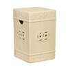 Emissary Home and Garden Square Ceramic Fortune Garden Stool