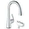 Grohe LadyLux3 Single Handle Hole Kitchen Faucet with Grohtherm Micro