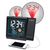 """La Crosse Technology 5"""" LCD Projection Alarm Clock with Moon Phase"""