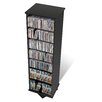 Prepac Floor Media Spinning 2 -Sided Multimedia Revolving Tower