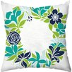 Checkerboard, Ltd Flower Garland Throw Pillow