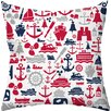 Checkerboard, Ltd Seafarer Throw Pillow