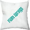 Checkerboard, Ltd Palm Springs Windmills Outdoor Throw Pillow