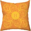 <strong>Checkerboard, Ltd</strong> Personalized Monogram Poly Cotton Throw Pillow