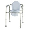 Roscoe Medical Three-in-One Folding Round Commode