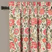 Serena Floral Rod Pocket Curtain Single Panel