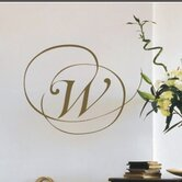 Script Monogram Wall Decal