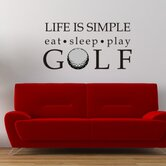 Life is Simple-Golf Wall Decal