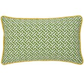 Maze Decorative Pillow in Green and Yellow