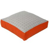 Maze Box Decorative Pillow in Grey and Orange