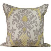 Ikat Linen Decorative Pillow in Grey