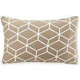Bethe Tile Linen Pillow in Light Brown