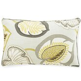Hosta Lily Cotton Pillow in Celedon